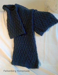 blåt tørklæde kurveflet