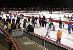 the oval in roseville, mn ... outdoor refrigerated ice skating rink