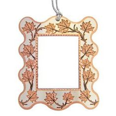 Maple Leaf Photo Frame Ornament