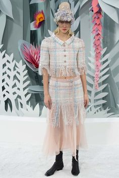 #DIY Frayed Tweed Inspiration // Chanel Spring 2015 Couture - Collection - Gallery - Style.com