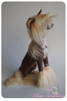 Chinese Crested /Personalized Pet /Felt dog/Needle felted Animal /Dog lover…