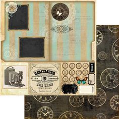 Marion Smith Designs - Nirvana Collection - 12 x 12 Double Sided Paper - Family Record at Scrapbook.com