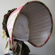 Spring+Bonnet++1830s+Inspired+by+AlliCatCrafts+on+Etsy,+$120.00