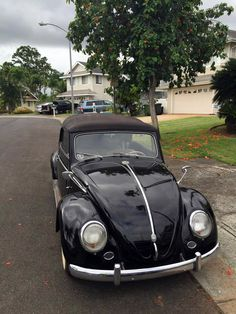 Paul Kobayashi, from Honolulu, Hawaï, U.S.A. His 1955 Euro VW Beetle Convertible, running a 1500cc engine with a '61 transmission.