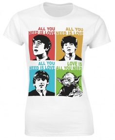 All you need is love Beatles Yoda Ladies T-Shirt