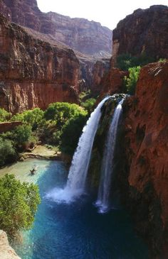 Havasu Falls on the Havasupai Reservation in Arizona...  One of the best trips ever.  Summer 2010