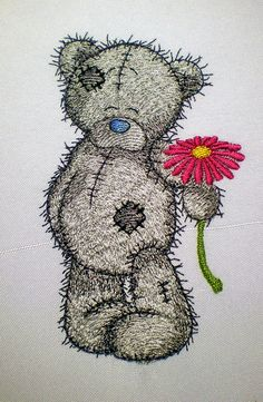 Teddy Bear  machine embroidery design for by ArtEmbroideryDesigns, $7.00