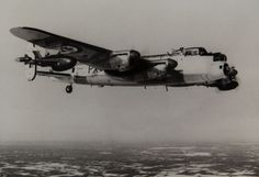 Royal Canadian Air Force Avro Lancaster carrying two Ryan Firebee target drones