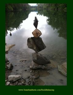 Professional Rock Stacking & Balancing, posted via © teamsandtastic.com