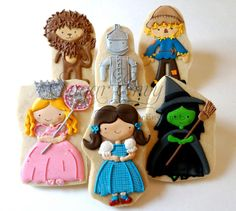 charact, wizard of oz cookies, cooki decor, wizards, decorated cookies, galleta, halloween cooki, cooki set, decor cooki