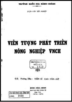 Luận Văn Thạc Sĩ - Viễn Tượng Phát Triển Nông Nghiệp VNCH   Sách Việt Nam