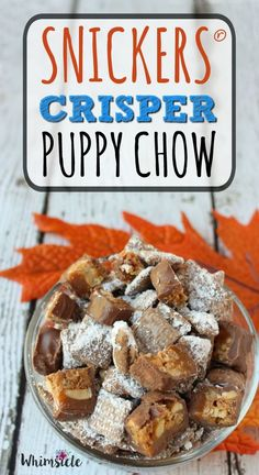 Perfect fall snack! SNICKERS® Crisper puppy chow makes a great football party food, sweet recipe or easy dessert. #sweetsquad [ad]