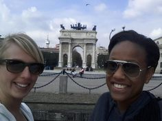 Vivian and Marissa are having a good time in... #srprsme #travel #adventure #citytrip
