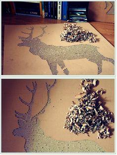 oh deer! -on cardboard