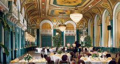 "Ballroom - The Royal York in Toronto is the third hotel to occupy the site. In 1843, the Ontario Terrace opened at this site and was renamed Sword's Hotel in 1853. The hotel was renamed again in 1860 as Revere House and finally as the Queen's Hotel in 1862. Prior to its demolition in 1927, the Queen's Hotel had been one of Toronto's most prestigious hotels. It was billed as ""One of the largest and most comfortable hotels in the Dominion of Canada""."