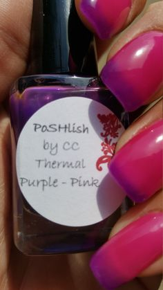 Unique Color Changing Purple Pink Thermal Nail Polish by PoSHlish