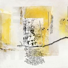 Yellow, gray, black, white color palette for Catherine…with old family pictures