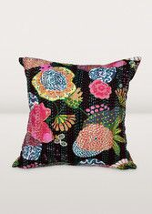 Midnight Blossoms Cushion Cover