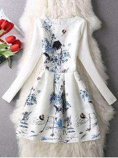 GET $50 NOW | Join RoseGal: Get YOUR $50 NOW!http://m.rosegal.com/print-dresses/long-sleeves-textured-floral-dress-686329.html?seid=3fh07j0g1t64pnhurlrla5qv44rg686329