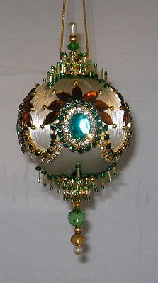 Beaded Satin Christmas Ornament KIT - JOKERS WILD