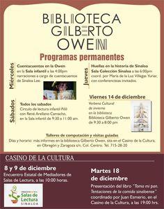 Programación Biblioteca Gilberto Owen.