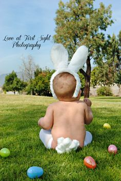 Baby Easter picture. cute bunny! #Easter #bunny