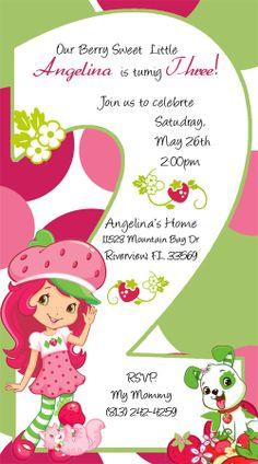 Strawberry Shortcake Invitations AGE 1 2 3 4 5 by DesignsbySuzan, $0.50