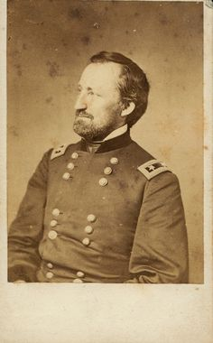 General William S. Rosecrans assumed command of Buell's forces and renamed it The Army of the Cumberland.  via Missouri History Museum.
