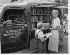 Bloomington Monroe County bookmobile in the 30's