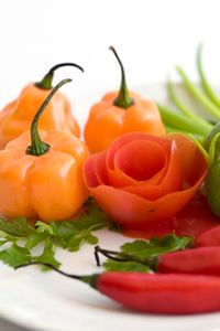 how to make fancy vegetable garnishes