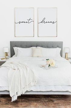 Above crib art / set of 2 prints / minimalist poster / Above bed art / above crib decor / nursery print / bedroom wall art / Sweet Dreams print - Home Sweet Home - Bedroom Decor Bedroom Wall Art, Home Decor Bedroom, Decor, Bedroom Makeover, Bedroom Decor, Apartment Decor, Home, Home Decor, Bedroom Wall