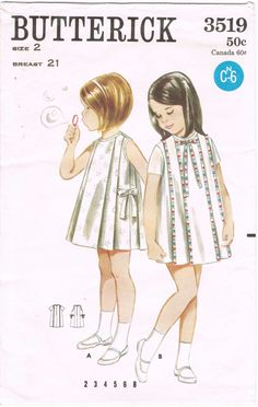 Butterick 3519  Vintage 1960s Sewing Pattern  by HappyIFoundIt, $8.95