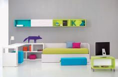 Coloured wall cubes are cool!
