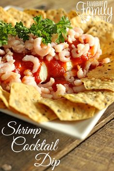 This Shrimp Cocktail Dip is always a favorite around the holidays and it couldn& be easier. It literally only takes 5 seconds to put together! Appetizer Dips, Yummy Appetizers, Appetizers For Party, Appetizer Recipes, Dinner Recipes, Dip Recipes, Party Snacks, Copycat Recipes, Sauce Recipes