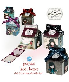 News from Santoro: Are these the most Gorjuss Label Boxes that you have ever seen?