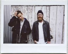 Flume & Chet Faker. Can this picture be anymore perfect? Seriously.