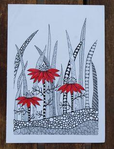 Doodles Zentangles, Zentangle Drawings, Doodle Drawings, Zantangle Art, Zen Art, Doodle Patterns, Zentangle Patterns, Flower Patterns, Zen Doodle