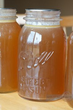 Home Made Chicken Stock Recipe. If you love to make your own soup you will want to have this healthy stock in your pantry. It is so EASY! PLUS there are canning instructions.