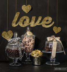 DIY Glittered Love Banner