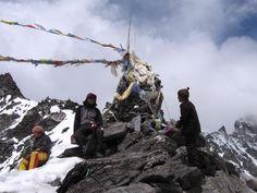 Over the top; Cho La pass, Nepal Himalayas