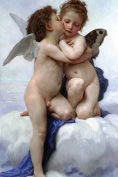 L'Amour et Psyché, enfants - Cupid and Psyche, section, by William-Adolphe Bouguereau