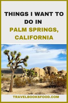 Things I want to do in Palm Springs, California, USA | Palm Springs Itinerary | Things to do in Palm Springs | Where to stay in Palm Springs