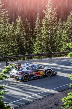 Sebastien Loeb at Pikes Peak Hill Climb with Peugeot Sport.