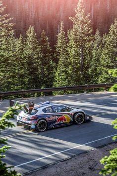Sebastien Loeb at Pikes Peak Hill Climb with Peugeot Sport.
