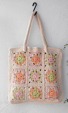 Ravelry: amicomo6-5 Motif Lesson Bag pattern by Pierrot (Gosyo Co., Ltd)