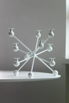 White Candelabra: This candelabra reminds me of crystalline lattice structures. <3 it!