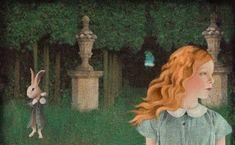 alice e il coniglio Alex Colville, Audrey Kawasaki, Lewis Carroll, Adventures In Wonderland, Alice In Wonderland, Daria Petrilli, Illustrations, Illustration Art, Barnett Newman