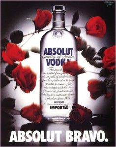 Absolut Vodka campaign. Amazeballs. I had a whole wall decorated with their ads in high school. Foreshadowing?