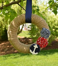 Nautical Wreath with Anchor Anchor Wreath by KutItOutCrafts, $35.00