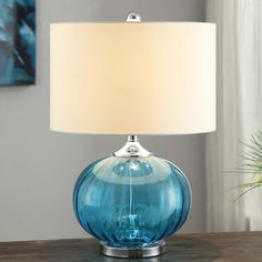 """Crestview Sea Side New Port 22"""" H Table Lamp with Drum Shade & Reviews   Wayfair"""
